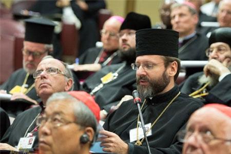Священним обов'язком Церкви є захистити і зберегти сім'ю. Виступ Блаженнішого Святослава на Синоді Єпископів у Ватикані