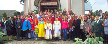 Святкування десятиліття збудування храму у с. Лосяч